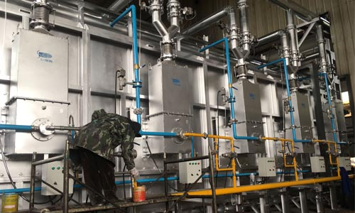 Regenerative gas furnace installed successfully