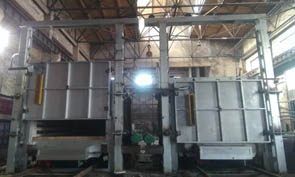 Congratulations on 800KW Trolley electric resistance furnace installation and trial start