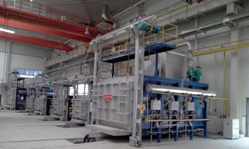 Trolley annealing furnace