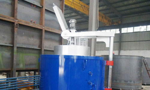 Shaft parts pit quenching furnace