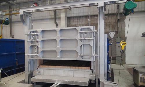 High temperature resistant bogie hearth furnace